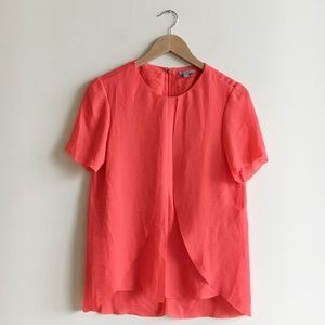 COS Red Layer Tiered Chiffon Top
